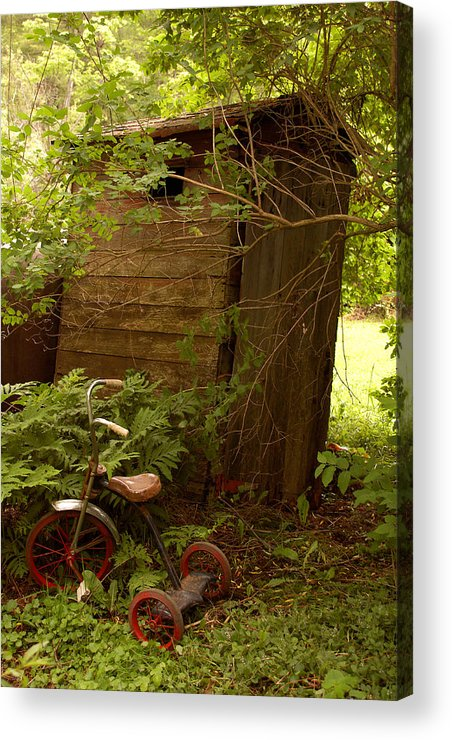 Outhouses Acrylic Print featuring the photograph Pit Stop by Linda McRae