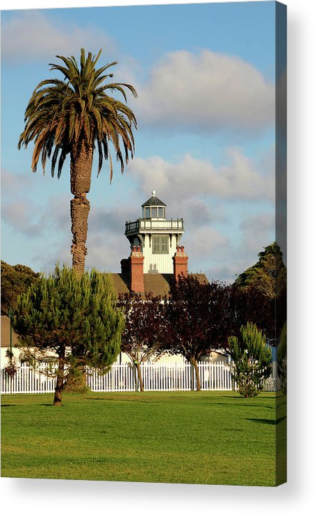 Point Fermin Lighthouse Acrylic Print featuring the photograph Point Fermin Light - San Pedro - Southern California by Christine Till