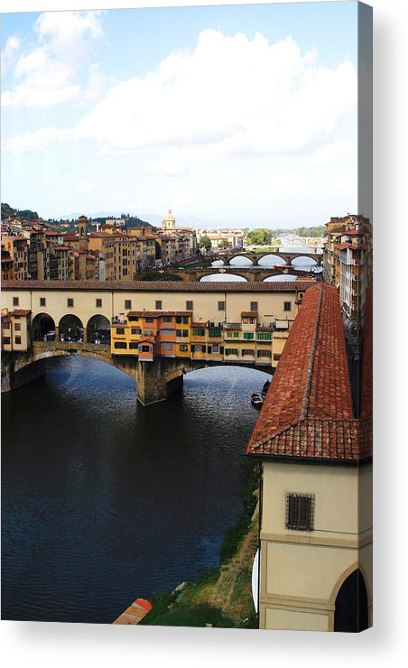 Florence Acrylic Print featuring the photograph Ponte Vechio Florence by Mathew Lodge