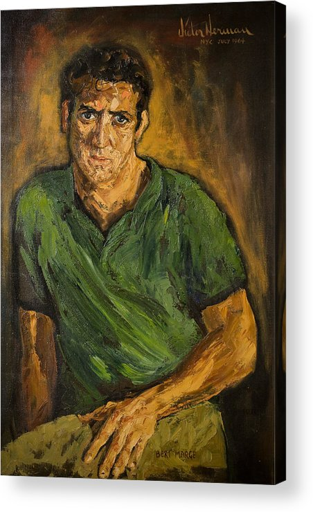 Man Acrylic Print featuring the painting Portrait - Bert Marge by Joni Herman