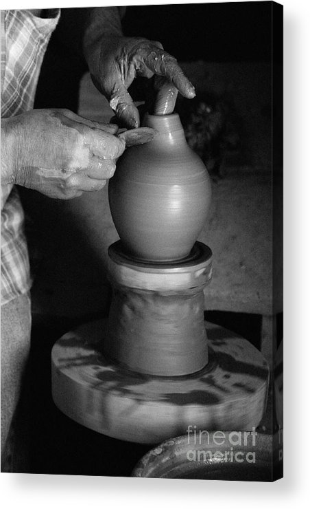 Azores Acrylic Print featuring the photograph Potter At Work by Gaspar Avila
