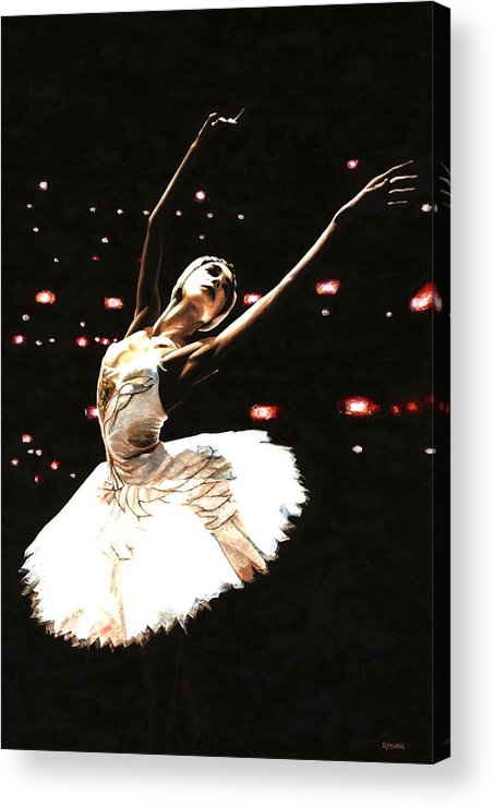 Prima Ballerina Acrylic Print featuring the painting Prima Ballerina by Richard Young