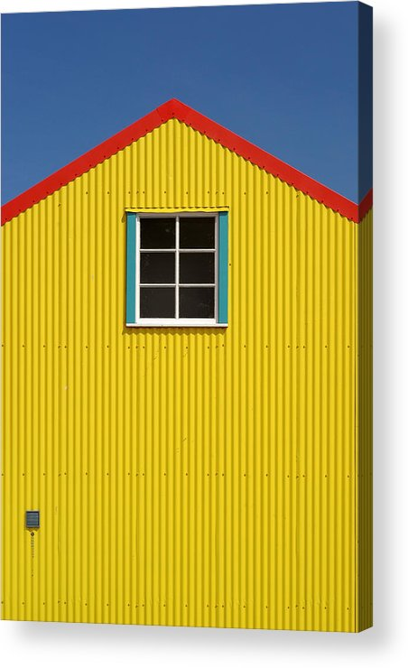 Architecture Acrylic Print featuring the photograph Primary Colors by Gary Zuercher