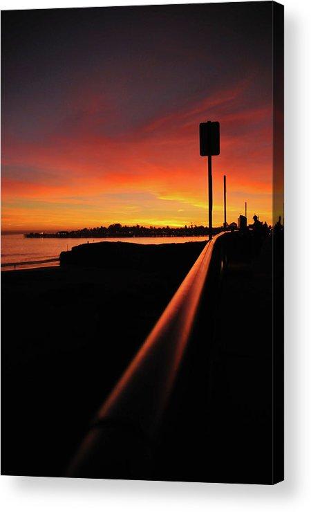 Sunset Acrylic Print featuring the photograph Purple Rail by John Finch