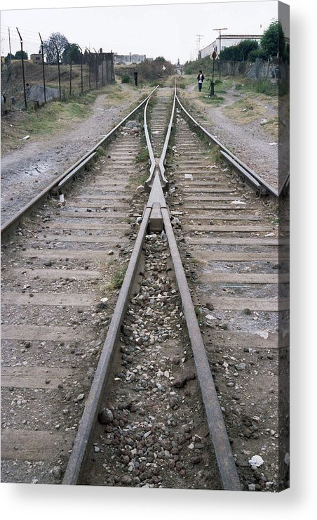 Railroad Acrylic Print featuring the photograph Railroad by Morris Gardner