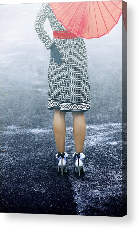 Woman Acrylic Print featuring the photograph Red Umbrella by Joana Kruse
