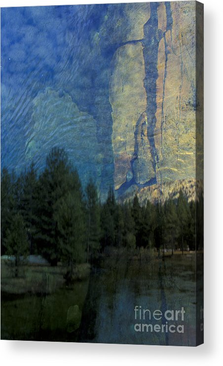 California Acrylic Print featuring the photograph Reflection In The Merced River by Stan and Anne Foster