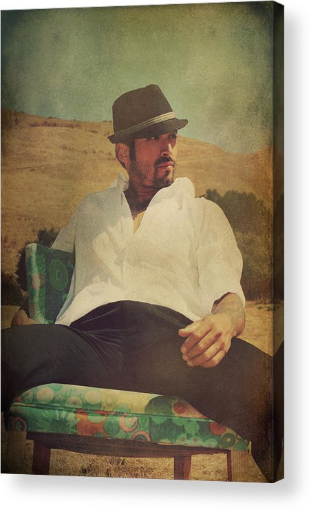 Man Acrylic Print featuring the photograph Relax And Stay A While by Laurie Search