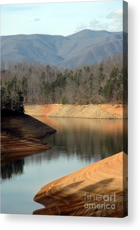 Great Smokey Mountian Railroad Acrylic Print featuring the photograph Reservoir Down by Michael Heaton