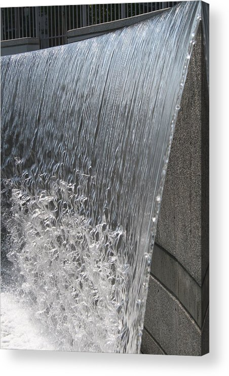 Waterfall Acrylic Print featuring the photograph Ribbons Of Water by Janet Hall