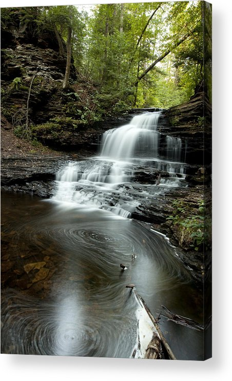 Water Falls Acrylic Print featuring the photograph Rickets Glen 4 by Christina Durity