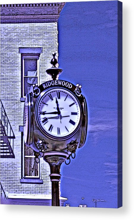 Ridgewood Acrylic Print featuring the photograph Ridgewood Time by Dimitri Meimaris