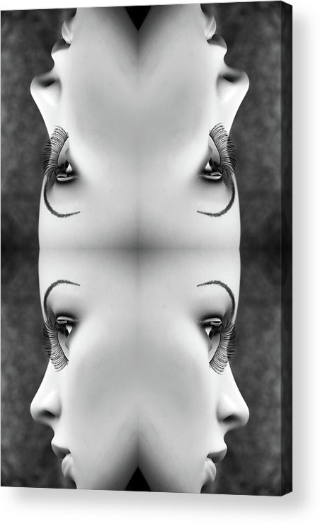 Mannequins Acrylic Print featuring the photograph Ripples Never Come Back by Jez C Self