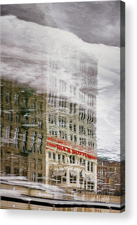 Ice Acrylic Print featuring the photograph Rock Bottom by Scott Norris