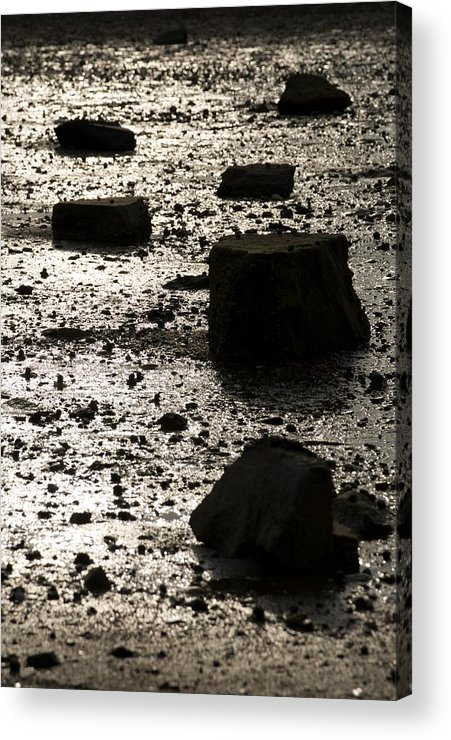 Rocks Acrylic Print featuring the photograph Rocks At Low Tide by Gene Sizemore
