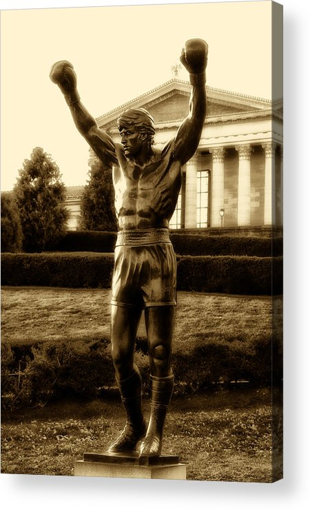 Sports Acrylic Print featuring the photograph Rocky - Heart Of A Champion by Bill Cannon