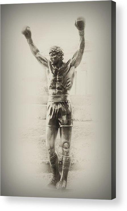Rocky Balboa Acrylic Print featuring the photograph Rocky by Bill Cannon