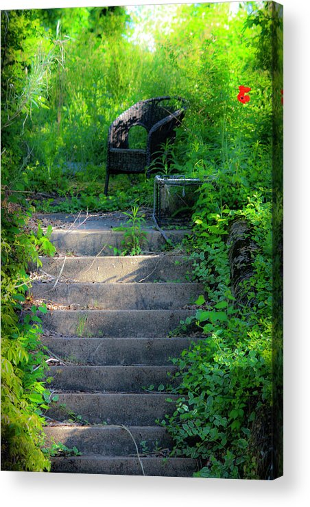 Garden Acrylic Print featuring the photograph Romantic Garden Scene by Teresa Mucha