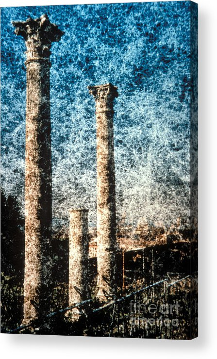 Columns Acrylic Print featuring the photograph Rome - 3 Classic Colums by Renata Ratajczyk