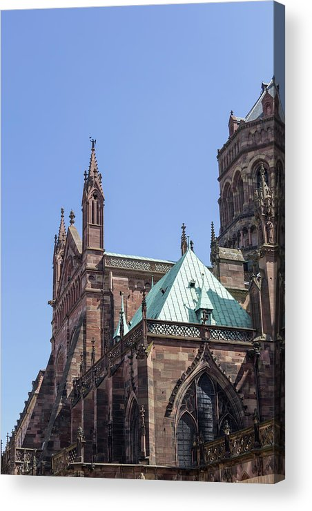 Alsace Acrylic Print featuring the photograph Rooflines by Teresa Mucha