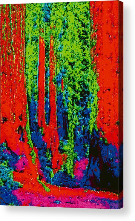 Acrylic Print featuring the digital art Rough Trees Dd5b by Modified Image