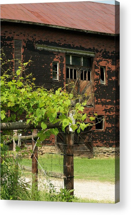 My Endless Visions 24 Acrylic Print featuring the photograph Rustic Barn by ShadowWalker RavenEyes Dibler