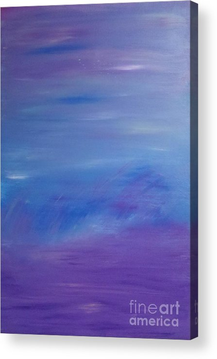 Abstract Acrylic Print featuring the painting Safe Harbor - Inner-view Series by Tracy Evans