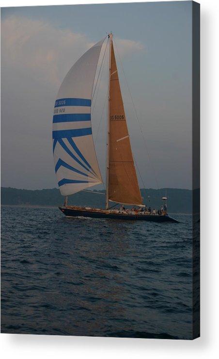 Sail Boat Acrylic Print featuring the photograph Sailing Away by Kevin Dunham