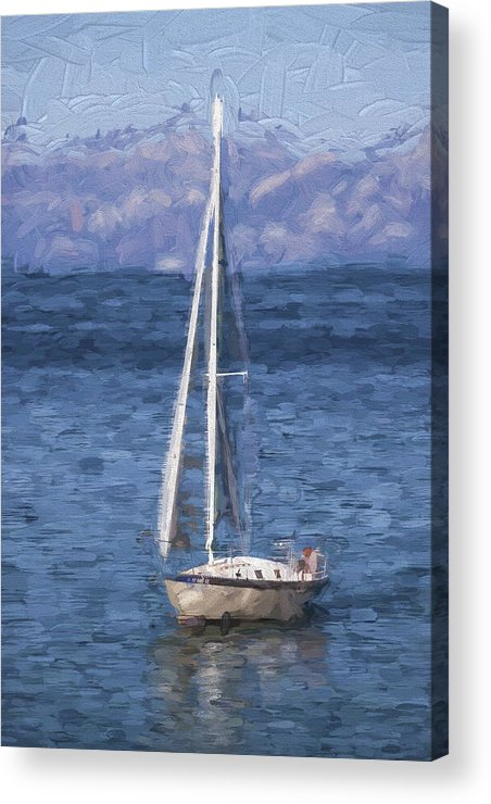 Sailing Acrylic Print featuring the photograph Sailing Lake Tahoe by Carol Leigh