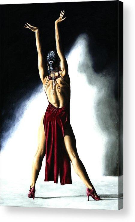 Samba Acrylic Print featuring the painting Samba Celebration by Richard Young