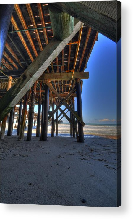 San Clemente Pier Acrylic Print featuring the photograph San Clemente Pier by Kelly Wade