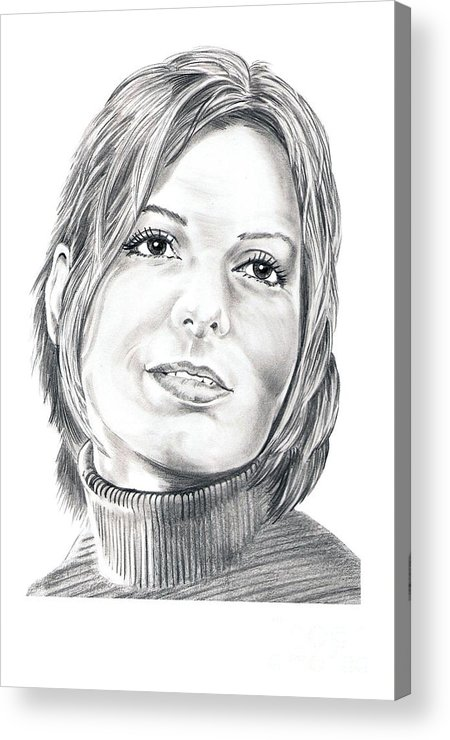 Drawing Acrylic Print featuring the drawing Sandra Bullock by Murphy Elliott