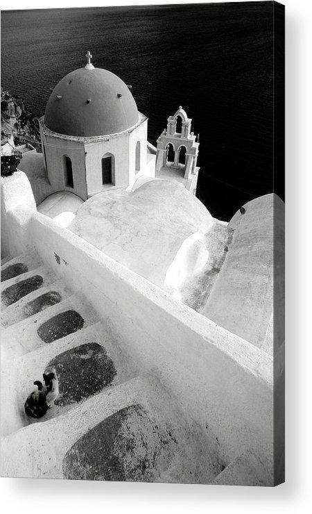 Santorini Acrylic Print featuring the photograph Santorini 022 by Manolis Tsantakis