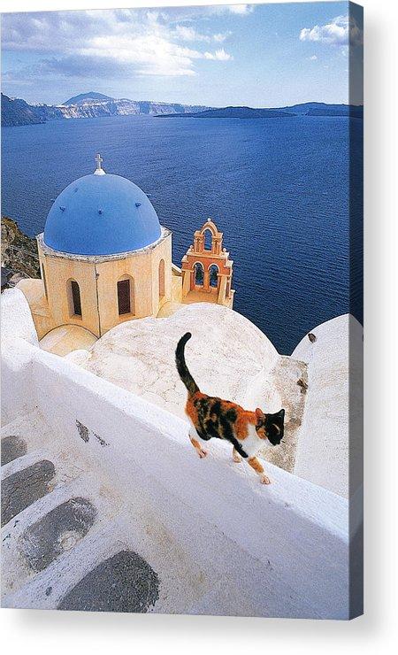 Santorini Acrylic Print featuring the photograph Santorini 04 by Manolis Tsantakis