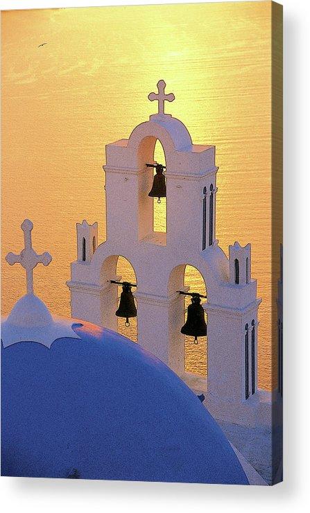 Santorini Acrylic Print featuring the photograph Santorini 05 by Manolis Tsantakis