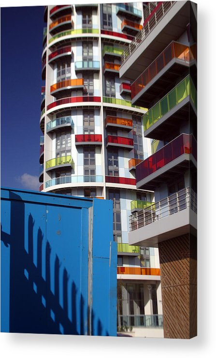 Jez C Self Acrylic Print featuring the photograph Scattered Colured Living by Jez C Self