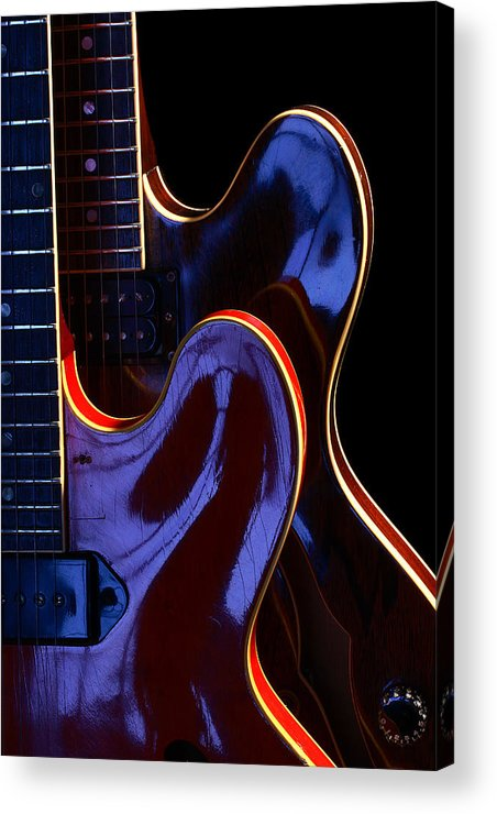 Guitar Acrylic Print featuring the photograph Screaming Guitars by Art Ferrier