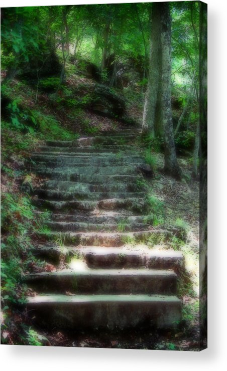 Stairs Acrylic Print featuring the photograph Second Ethereality by Carl Perry