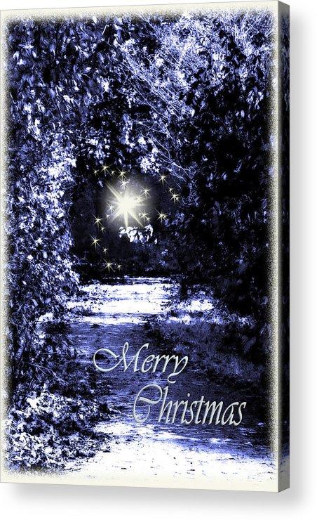 Fantasy Acrylic Print featuring the photograph Secrets Christmas Card by Cathy Beharriell