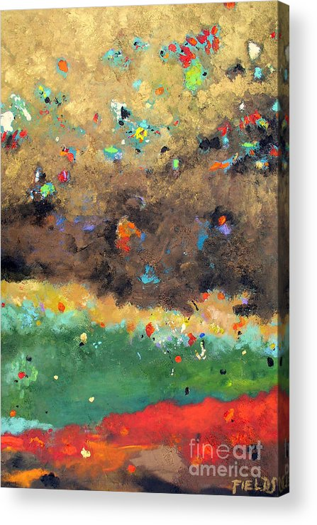 Bold Acrylic Print featuring the painting Seeking Knowledge by Karen Fields