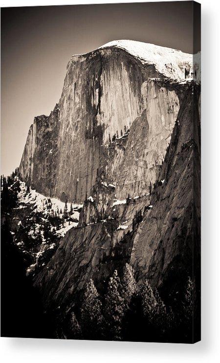Yosemite Acrylic Print featuring the photograph Sepia Half Dome by Scott Sawyer