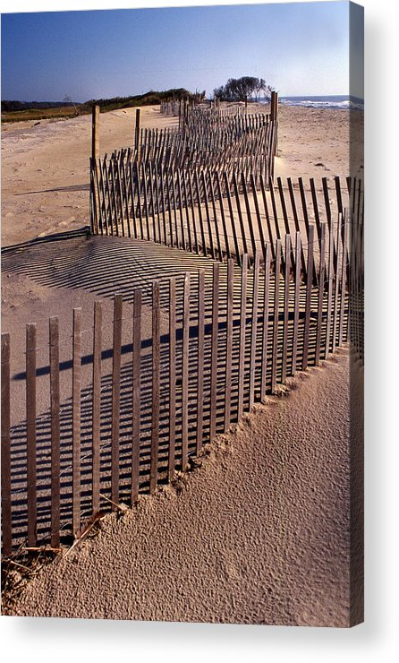 Fence Acrylic Print featuring the photograph Serpentine by Skip Willits