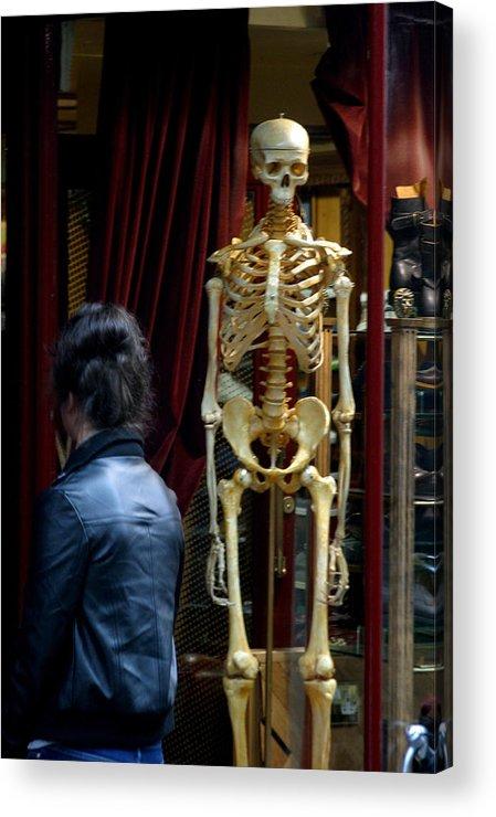 Jez C Self Acrylic Print featuring the photograph Skeleton Staff by Jez C Self