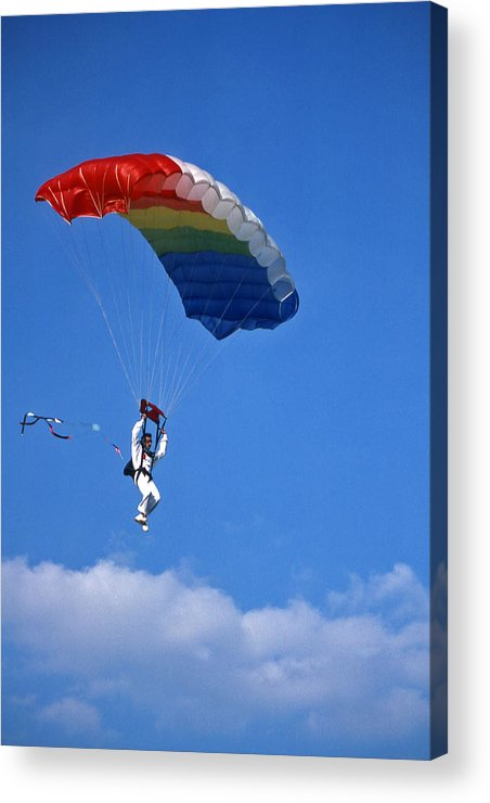 Tennessee Acrylic Print featuring the photograph Skydiving - 1 by Randy Muir