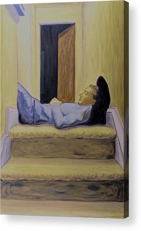 Expressionism Acrylic Print featuring the painting Sleeper by Samuel Zimmerman