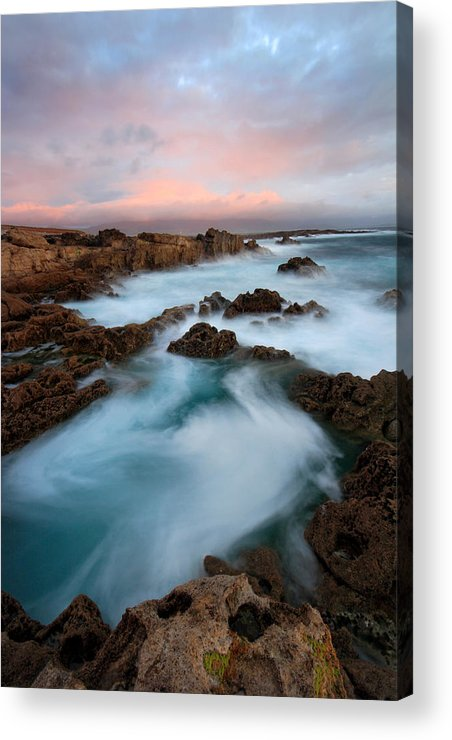 Kerry Acrylic Print featuring the photograph Slow Exposure Kerry Sunset Ireland by Pierre Leclerc Photography