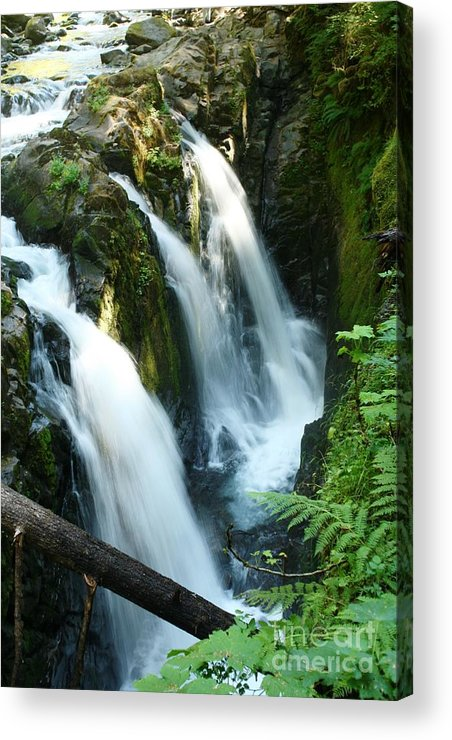 Waterfall Acrylic Print featuring the photograph Sol Duc Falls by Idaho Scenic Images Linda Lantzy