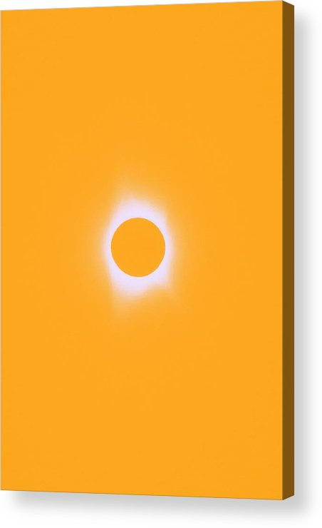 Sun Acrylic Print featuring the painting Solar Eclipse, Saros Cycle In Orange Colors by Celestial Images