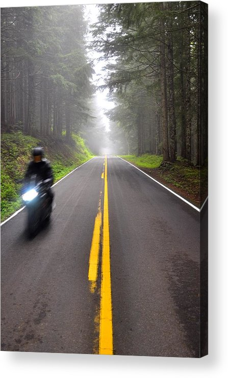 Motorcycle Acrylic Print featuring the photograph Solo Road by Noah Cole
