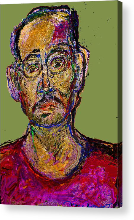Self Portrait Acrylic Print featuring the painting Sp200508 by Noredin Morgan